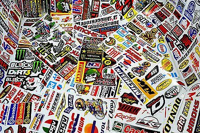 Job Lot 3 A4 Sheets of Racing Sponsor/Logo Stickers/Decals Cars/Motorbikes/Quad
