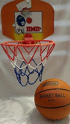 M&M's Portable Mini Hoop Backboard Net with Mini Basketball