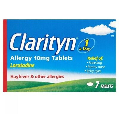 New Clarityn Allergy Hay fever Tablets One A Day Loratadine 10mg (7 in 1 Pack)