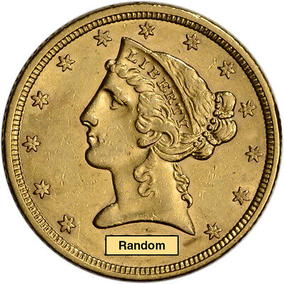 US Gold $5 Liberty Head Half Eagle - AU - Random Date