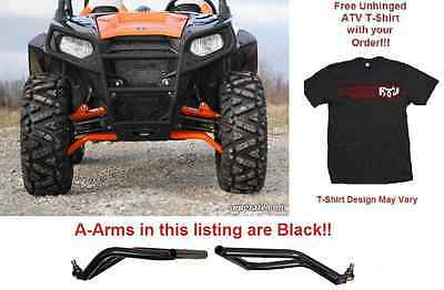 BLACK SuperATV Polaris RZR 800 / 570 High Clearance Forward Offset A-Arms
