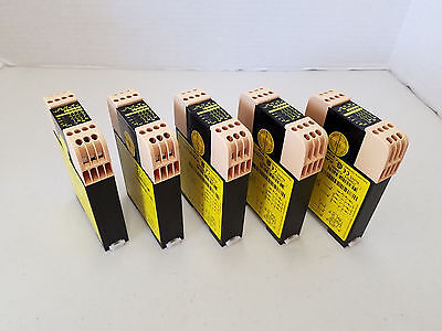 (Lot of 5) ABB JOKAB Safety BT50 Ver.B Safety Relay (3NO outputs, 1NC output)
