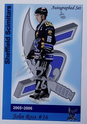 Auto'd JOHN ROSS 2005-06 Sheffield Scimitars 1/10 - SUTTON STING