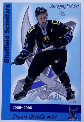 Auto'd STUART BRITTLE 05-06 Sheffield Scimitars 1/10, WIDNES WILD x Stingrays