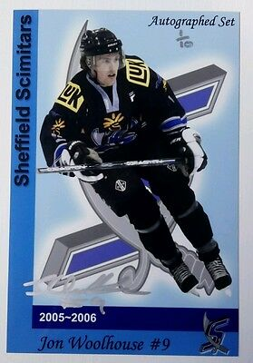 Auto'd JON WOOLHOUSE 2005-06 Sheffield Scimitars Limited Edition 1/10