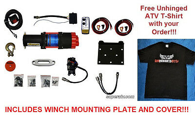 Polaris RZR 800 S RZR4 570 3500lb Synthetic Rope ATV Winch Wireless Remote #3500