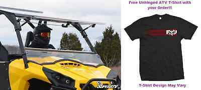 MADE IN THE USA Can-Am Commander Scratch Resistant Flip Windshield Full Tilting