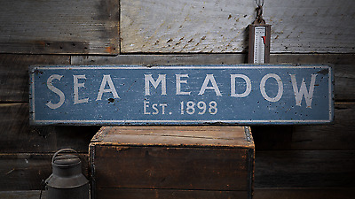 Beach House Established - Rustic Handmade Distressed Wooden Sign ENS1000844