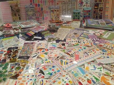 HUGE LOT 750 packs sheets new scrapbooking stickers embellishments paper NEW