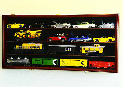 O Scale Model Train Car Display Case Rack Holder Box *Holds Up To 16 Trains""
