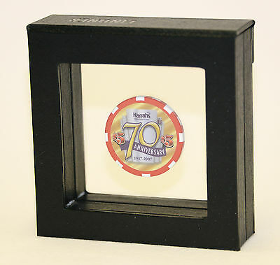 1 Single Casino Chip Gold Coin Medallion Display Case Box Frame Holder Shadowbox