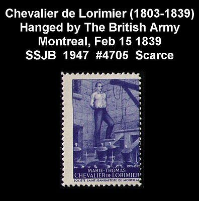 MONTREAL FEB 15 1839, CHEVALIER de LORIMIER A PATRIOT HANGED BY THE BRITISH ARMY