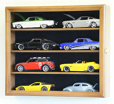 1/24 Scale Diecast Model Car Display Case Rack Holder 8 Cars Nascar Hot Wheels