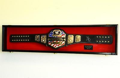 WWE WWF WRESTLING CHAMPIONSHIP ADULT SIZE BELT DISPLAY CASE FRAME BOX up to 64""