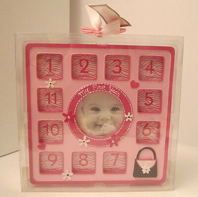 My First Year Baby Girl Photo Frame Large Collage NEW Baby Shower Gift