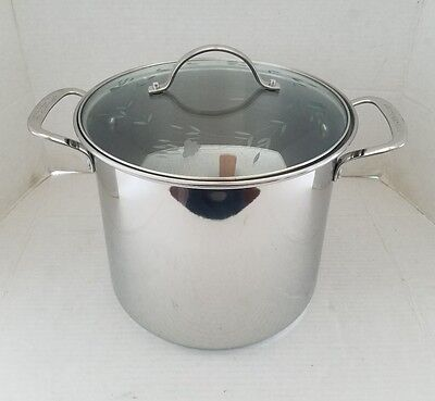 Princess House Heritage Stainless Steel 10qt Stock Pot W/ Lid 6324