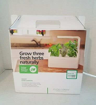Click and Grow Indoor Smart Herb Garden With 3 Basil Cartridges W/ White Lid