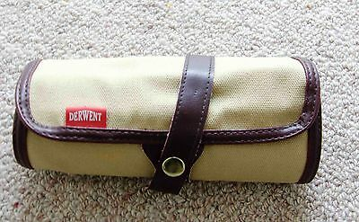 derwent pencil roll and pencils