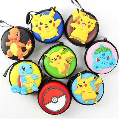 Anime Pokemon Go Pikachu Mini PU Case Zipper Headset USB Cable Storage Bag