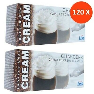 120 Nitrous Oxide Cannisters (Liss, 8g) - NOS, N2O, Whipped Cream, Lowest Price!