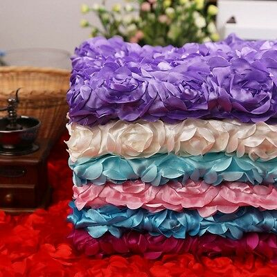 5M 3D Rose Flower Blanket Rug Newborn Baby Photo Props Wedding Party Backdrop