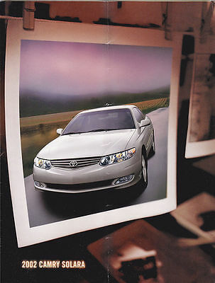 2002 Toyota Camry Solara  Fold Out  Sales Brochure