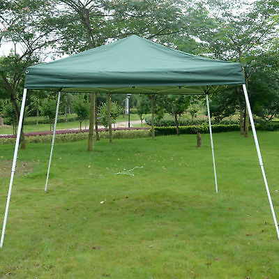 Outsunny 10x10ft Easy Pop-up Canopy Party Tent Sunshade Shelter w/Slant Leg