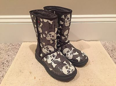 c6cfb74e2c7 UGG I HEART Kisses Tall Sequins Skull Boot 4US BLACK (fits Girl 2 ...