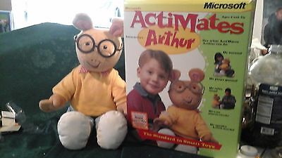 Microsoft Actimates Interactive Arthur Smart Toy Talking Moving Plush 1998 Box