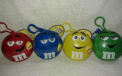 M&M's Keychain Candy Cases Lot of 4