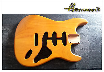 Stratocaster Erle Body, 2 Piece Alder Stratocaster Body, Finish:  aged Nature