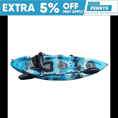 2.7M Fishing Kayak Single 2017 Sit On Seat Paddle Package Newcastle Blue Lagoon