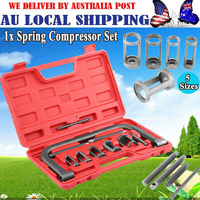 NEW 10PC VALVE Spring Compressor Tool Kit for Car Motorcycle Petrol