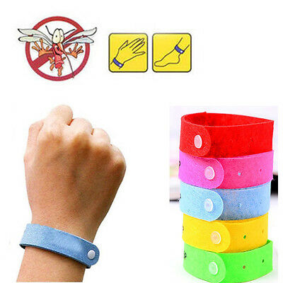 10 Pcs/Set Repellent Repeller Insect Anti Mosquito Wristband Bracelet For Baby