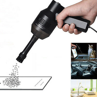 Black Mini USB Vacuum Cleaner Collector For Laptop iMAC Computer Keyboards