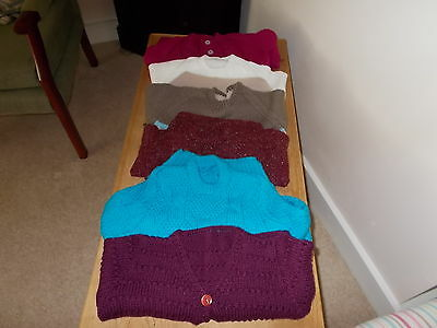 6 Hand Knitted Boys/girls Jumpers/cardies  New Assorted Sizes/colours Bargain