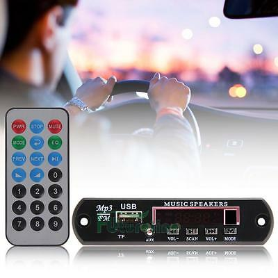 Auto estereo mp3 Decoder Board SD MMC TF módulo de audio USB Aux FM Radio Remote