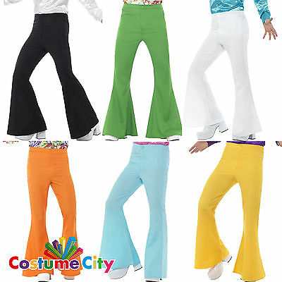 Adults Mens 1970s 70s Disco Flares Flared Trousers Fancy Dress Costume Accessory