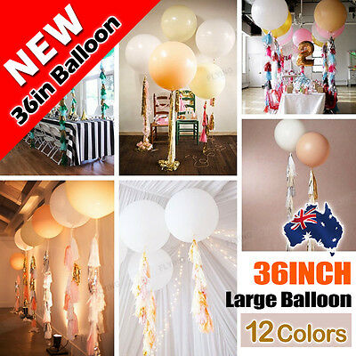 Giant 36Inch 90cm Balloon Latex 12 Colors Wedding Birthday Party Festival Event