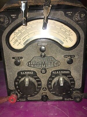 Vintage Universal Avometer Model 8 With Leads - Collectors