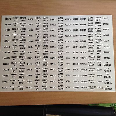 Consumer Unit Stickers - Domestic Labels £5 For 2