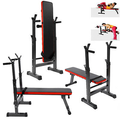 Foldable Press Sit Up Weight Bench Barbell Exercise Non-slip Heavy Duty 280KG
