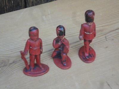 Vintage Lone Star Plastic Soldiers Bearskins Lot of Three Made In Great Britain
