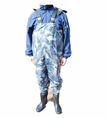 New PVC Camo Chest Waders for fishing rod & reel angler1 Sz Top Bootie Size 8-13