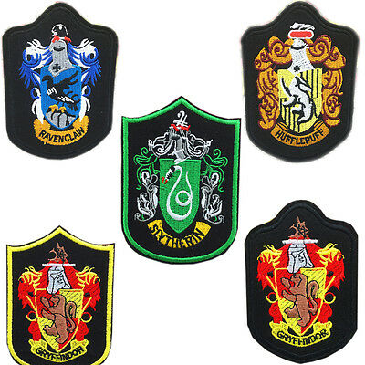 Harry Potter Crest House Gryffindor Hufflepuff Slytherin Ravenclaw Iron On Patch