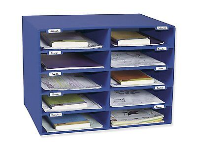 Slot Mailbox Office Mail Box Sorter Desk Organizer Document File Paper Storage