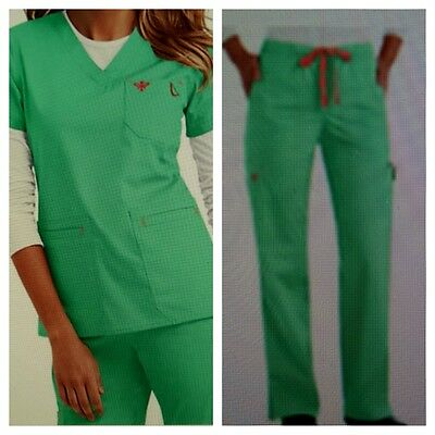 NWT Med Couture Women's Scrub Set (Top 8403/Pant 8705) KLAT Large
