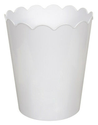 Hefty Scallop Plastic 2.3 Gallon Waste Basket Set of 6
