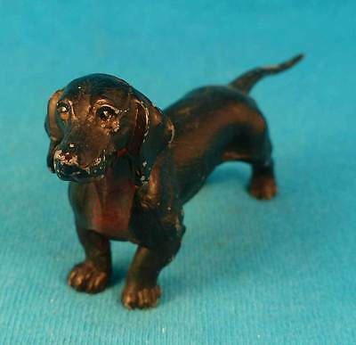 vintage painted metal dachshund FREE SHIPPING old doxie dog
