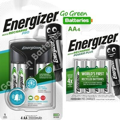 Energizer PRO AA /AAA Intelligent Charger + 8 AA 2000 mAh Rechargeable Batteries